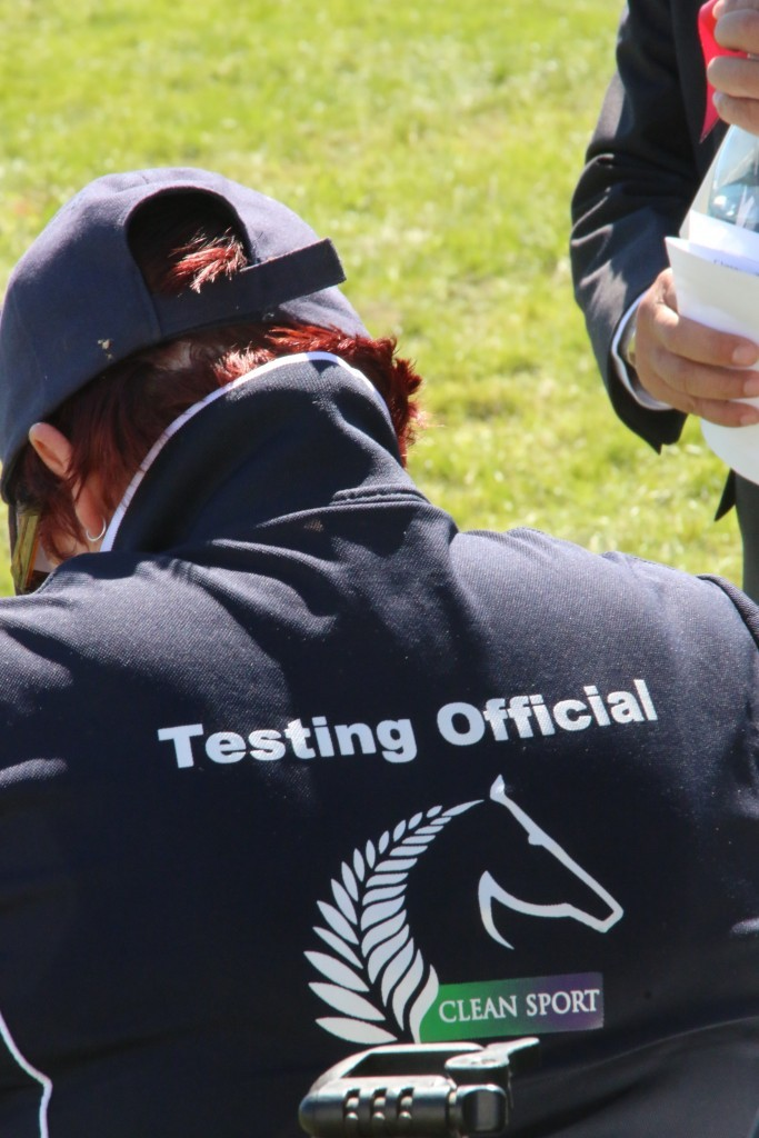 Testing Officials were at the Horse of the Year show