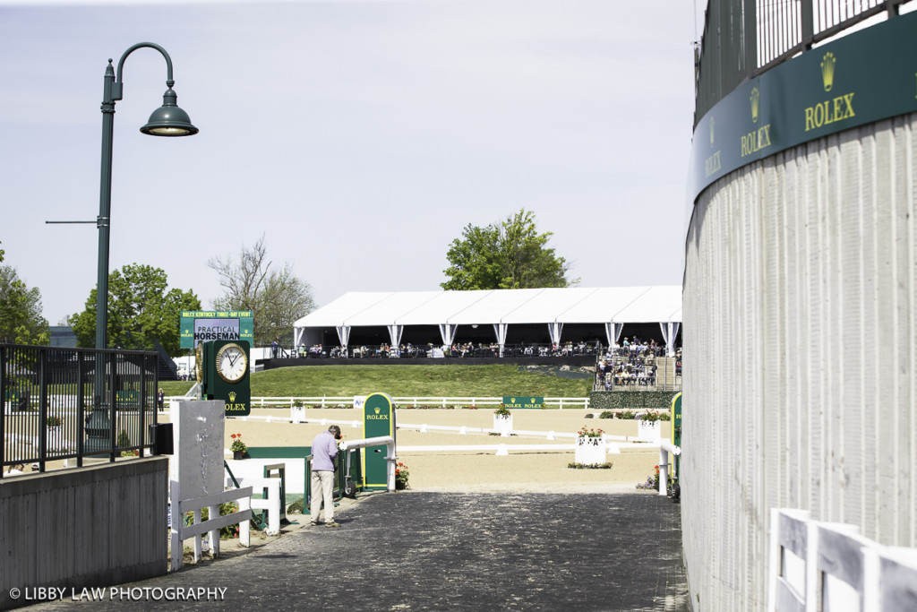 The ramp where all the horses enter and exit the arena. Photo Libby Law Photography