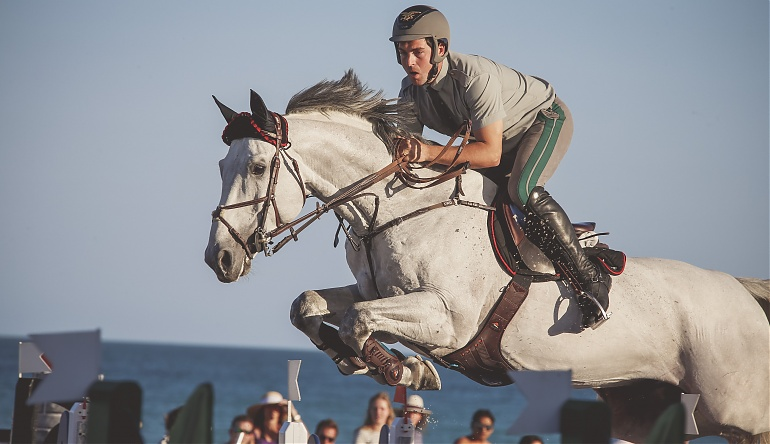 Emanuele Gaudiano (ITA) on Caspar 232. Photo LGCT / Stefano Grasso