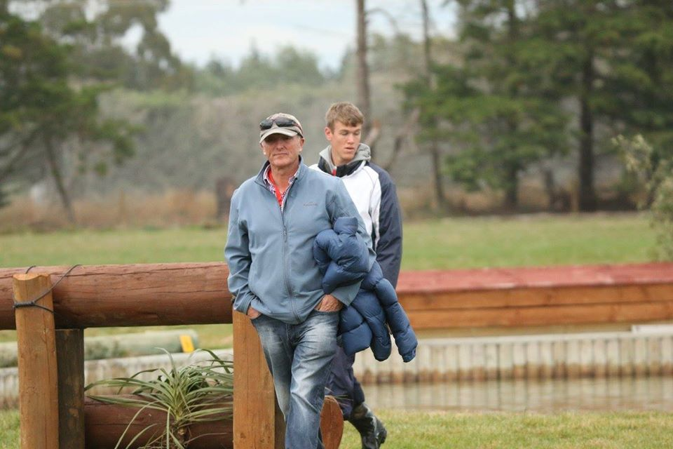 Stephen Fields with one of his pupils, Aiden Viviers at the Pony Club Championships