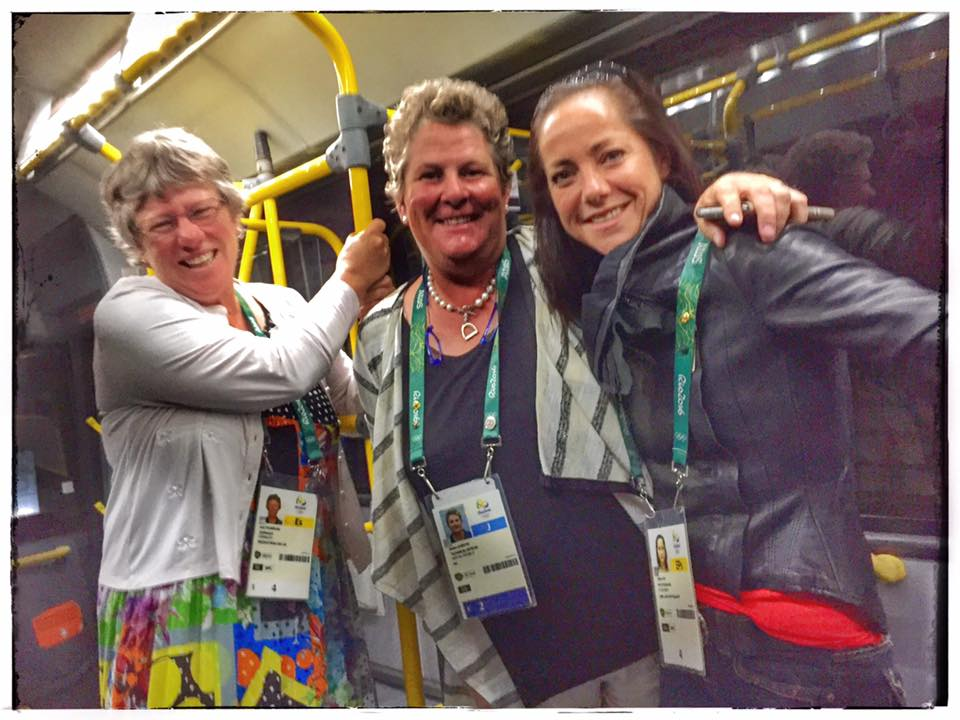 Jane, Helen and Libby on their way to a party! (Image: Jon Stroud)