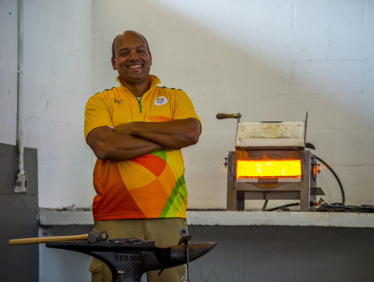 Luiz Tenorio (44), the man in charge of Farrier Services Coordination for both the Olympic and Paralympic Games. Photo Arnd Bronkhorst