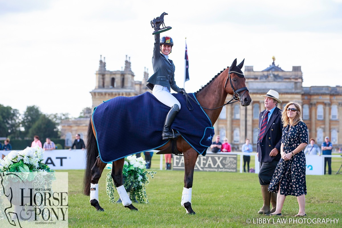 Bettina Hoy pretty delighted to win the CCI3* class on Seigneur Medicott (Image: Libby Law)