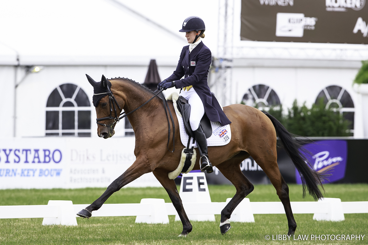 Britain's Isabella Innes Ker on Carolyn have taken the lead after the first day of dressage at Boekelo. (Image: Libby Law)
